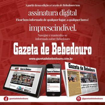 Assine a Gazeta de Bebedouro